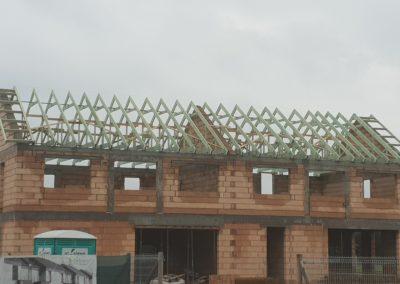 Konstrukcja dachu dla budynków wielorodzinnych w miejscowości Zalasewo