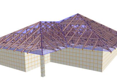dach konstrukcja 3d