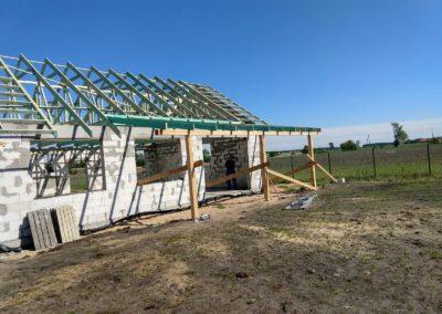 Prefabrykowana Konstrukcja dachu montaż