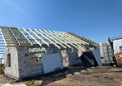 Prefabrykowana Konstrukcja dachu dwuspadowego
