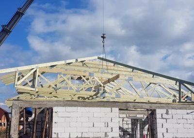 montaż dachu kopertowego