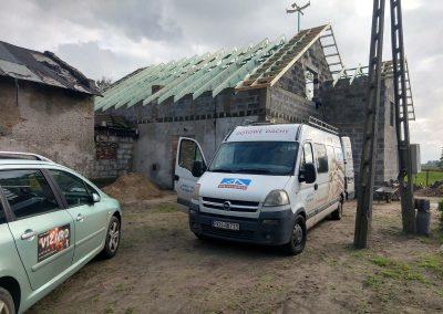 montowanie dachy dwuspadowego